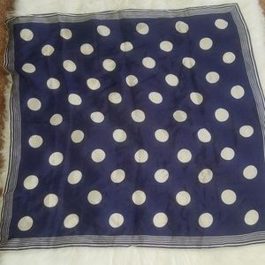 "Accessories - Polka dots royal blue kerchief. 30"" x 30"""